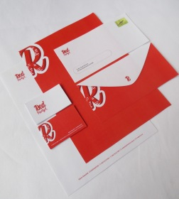 Red Party Stationery Set