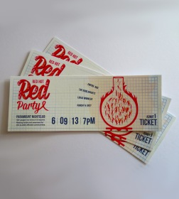 Red Party Tickets