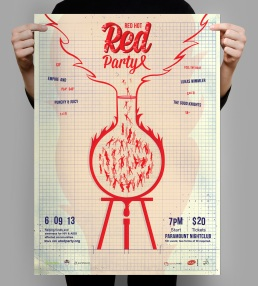 Red Party Poster