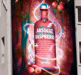 Absolut Vodka Campaign portrait 50 signage