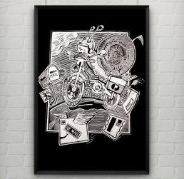 Snail Mail - scrapper board illustration