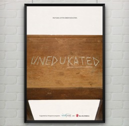 uneduKATEd - girl education advertisement poster
