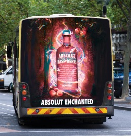 Absolut 'Enchanted' Vodka fullback (bus) design