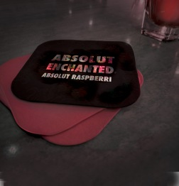 Absolut 'Enchanted' Vodka coaster designs