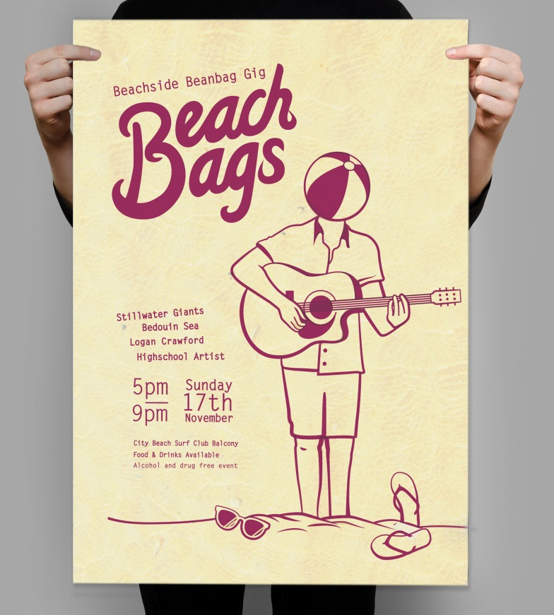 Beach Bags event poster