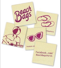 Beach Bags stickers
