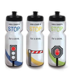 cycle sport if safety campaign water bottles