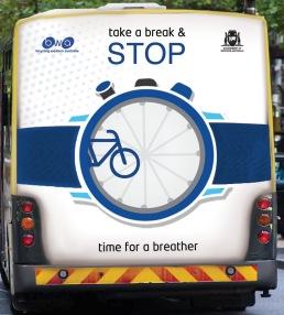 Cyclo Sportif Safety Campaign bus 1