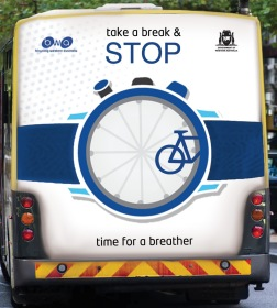 Cyclo Sportif Safety Campaign bus 3