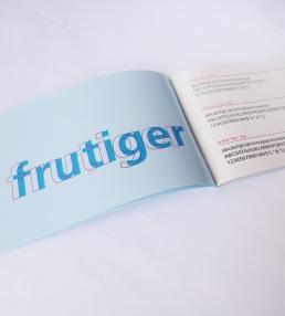 Frutiger Type Specimen spread