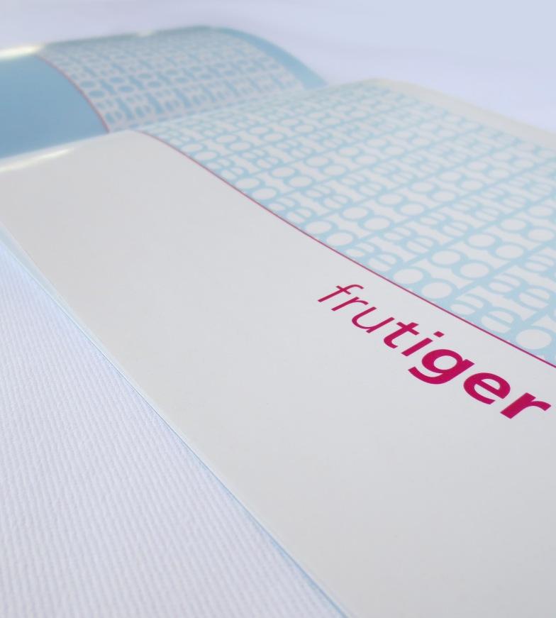 Frutiger Type Specimen title page