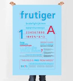Frutiger Type Specimen Poster