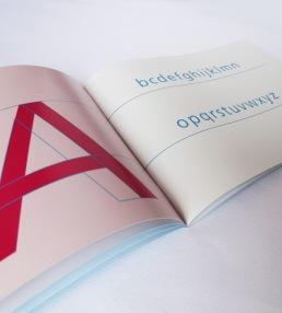 Frutiger Type Specimen alphabet spread
