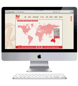 Interactive world map website page