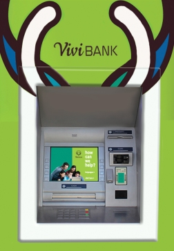 vivi bank ATM signage