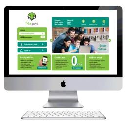 Vivi Bank Home page