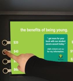 Vivi Bank ATM screen withdrawal