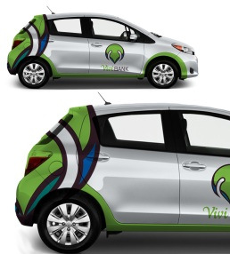 Vivi bank Car Wrap
