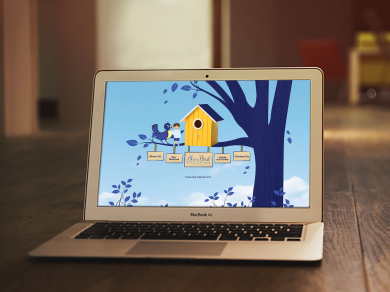 Bluebird Home page on Laptop