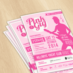 The Pink Gig flyers