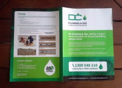 Brochure design front and back cover
