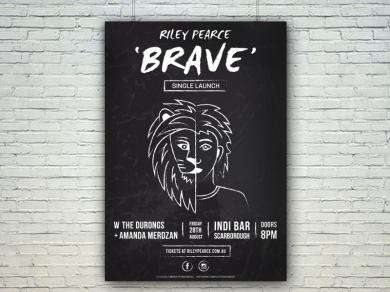 'BRAVE' Single Launch Indi Bar Poster